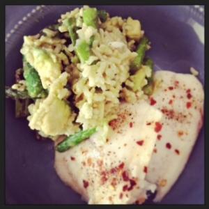 asparagus and tilapia