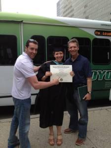 Funk, Hill, Dad Graduation